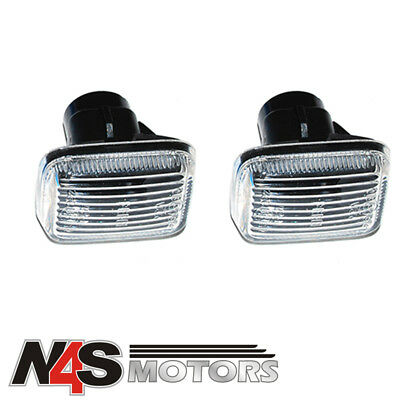 Range Rover P38 LED Clear Chrome Wing Indicator Repeater Lights Set XGB000060