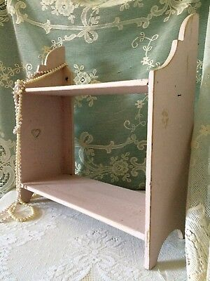 Antique Vintage Victorian Shelving, Scrumptious, Shabby Chic, Chippy, Pink