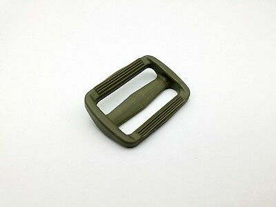 25mm Khaki Green plastic tri-glide buckle, triglide webbing strapping adjuster