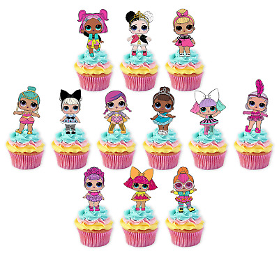 LOL Dolls #2 Stand up Edible Cupcake Cake Toppers Fairy Birthday Images L.O.L