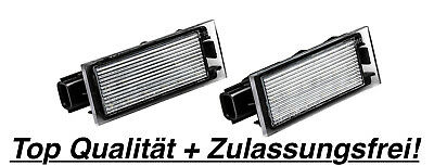 2x TOP LED Kennzeichenbeleuchtung Renault Clio IV 4 BH 1.6 RS Trophy / N06