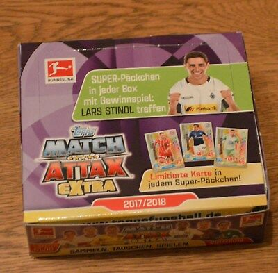 Topps Match Attax Extra 17/18 1 Display / 24 Booster 2017/2018 Neu & OVP