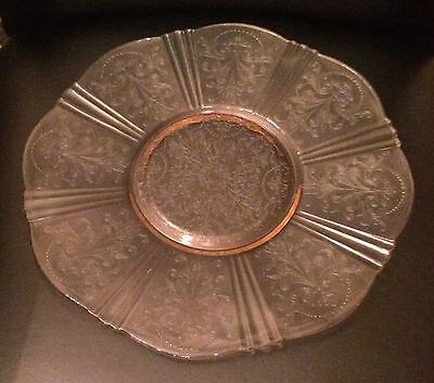 American Sweetheart Pink Depression Glass Salver Plate
