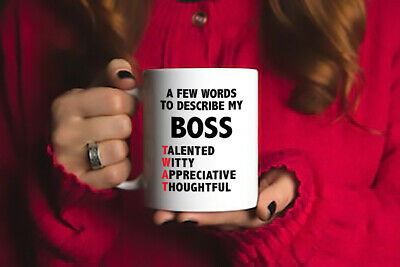 "To Describe My Boss ""T*at"" Funny Mug Novelty birthday Gift"