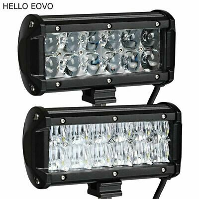 HELLO EOVO 4D 5D 7 Inch 60W 2pcs LED Light Bar for Work Indicators Driving Offro