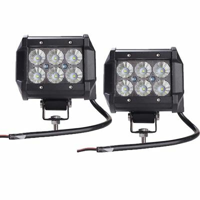 """2pcs light bar 18W Work Light Lamp Cree chip LED  4"""" Motorcycle Tractor Boat Off"""