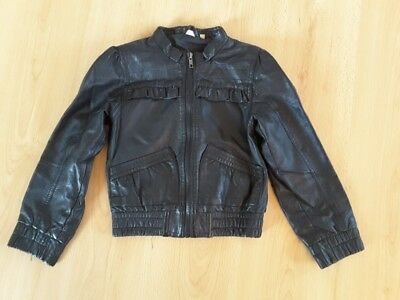 Gorgeous Black Faux Leather Jacket from New Look - Age 7 yrs - Fab!