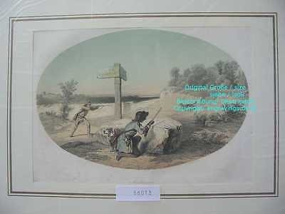 56013-Jagd-Hunting-FUCHSJAGD-Fox Hunting-Abschiessen-Hand Koloriert-hand colored