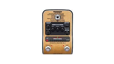 ZOOM AC-2 Acoustic Creator Pedal & DI for Acoustic Guitar – AC2 Stompbox