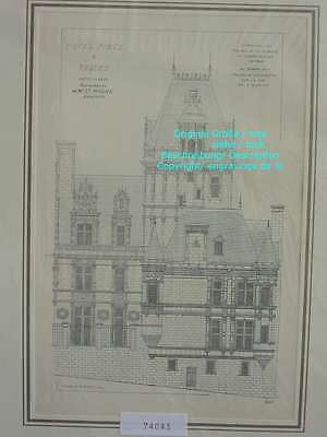 74043-Frankreich-Française-Angers-Hotel Pince-Lithographie-Lithography