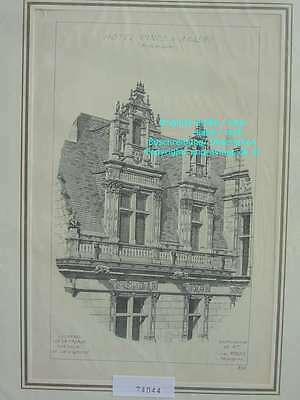 74044-Frankreich-Française-Angers-Hotel Pince-Lithographie-Lithography