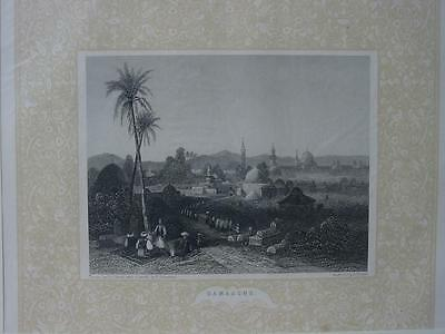 85090-Asien-Asia-Syrien-Syria-Damascus-Damaskus-Ornament-Stahlstich-engraving