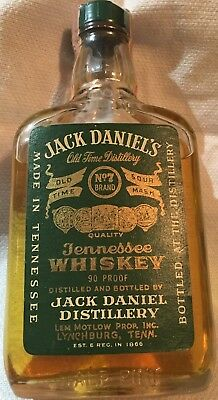 Jack Daniel's Half Pint Green Label Paper Seal From 1973, Excellent Condition