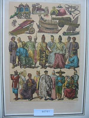 86781-Trachten-Costumes-Asien-Asia-Indien-Indochina-China-Kunst-Art-Lithographie