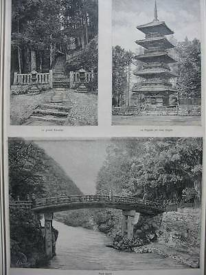 86933-Asien-Asia-Japan-Nippon-Nihon-Temples Nikko-T Holzstich-Wood engraving