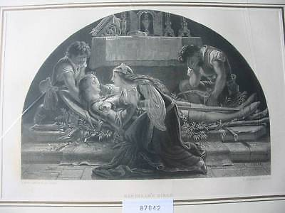 87042-Barthram`s Dirge-nach Noel Paton-Stahlstich-steel engraving