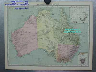 Australien-Australia-Karte-Map-Commonwelth-48x35cm-Lithographie-Lithography