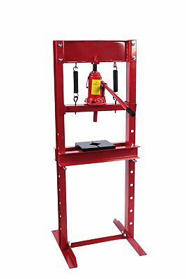 Dragway Tools® 12 Ton Hydraulic Shop Floor Press with Press Plates and H Frame