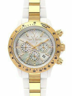 Toy Watch Women's 18218-GD Heavy Metal Plasteramic Two-Tone Chronograph Mother-O