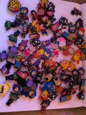 75+ Piece Lot  PVC Rubber Shoe Charm 2nds Peppa Pig Umizoomi South Park More