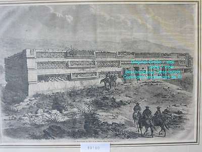80180-Mexiko-Mexico-Mitla-Priesterpalast-T Holzstich-Wood engraving