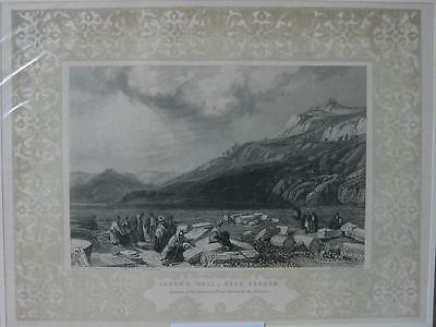 85083-Israel-Palästina-Palestine-Jacob Well Ornament-Stahlstich-Steel engraving