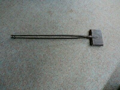 Antique Cast and Wrought Iron Waffle Maker- Long Handled
