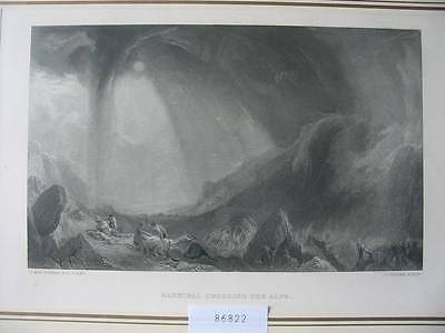 86822-William Turner-Hannibal Crossing The Alps-Stahlstich-steel engraving