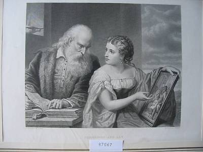 87067-Bibel-Bible-Philosophy and Art-nach Huntington-Stahlstich-Steel engraving