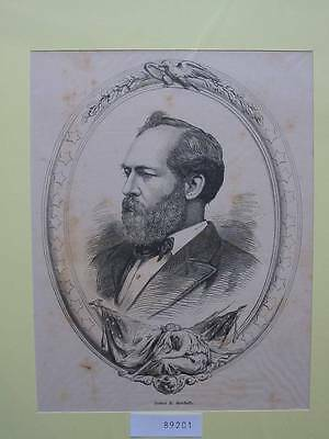 89201-Porträts-Portraits-James A.Garfield-USA-TH-Wood engraving