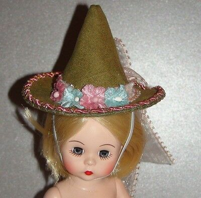 """Madame Alexander 8"""" Doll Hat -Original Dress Outfit -Beautiful - Spring - Easter"""
