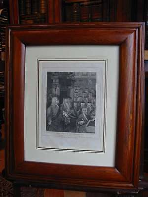 The House of Commons-Hogarth-1809-Kupferstich im Holzrahmen-copper engraving