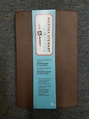 """Martha Stewart Classic Smooth Finish Journal 14851 202 Lined pgs 5 1/2"""" x 8 1/2"""""""