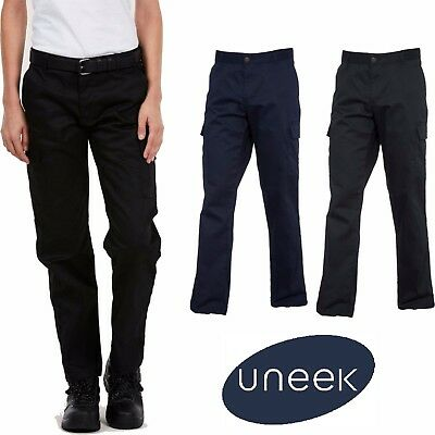 Ladies Cargo Work Trousers Women Combat Safety Action Workwear Pants Pockets 905