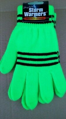 Ladies Children/'s Gloves Bright Pink Storm warmers thermal stretch gloves.
