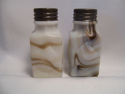 "Old Brown Slag ""Shells"" Salt and Pepper Shakers"