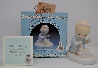 1983 ENESCO Precious Moments Dawn's Early Light MEMBERS ONLY Porcelain Figurine