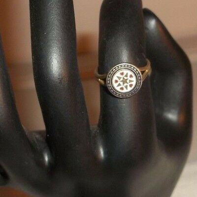 Vintage 1960s Enamel Ring - Adjustable Size w Stars and Hearts! Outstanding!