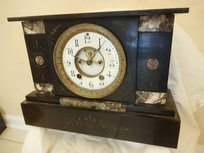 Antique 19th C. Seth Thomas Victorian Marble Mantel Clock