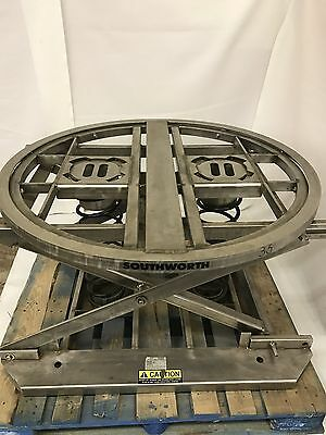 Southworth Stainless Steel Pallet Pal Lift Table Spring Actuated Level