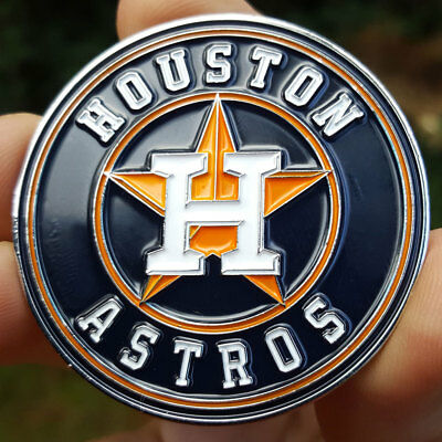 MLB Houston Astros 2017 World Champions Poker Chip Card Guard Collectors Coin