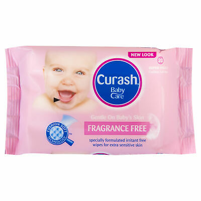 Curash Babycare Fragrance Free Baby Wipes X 20