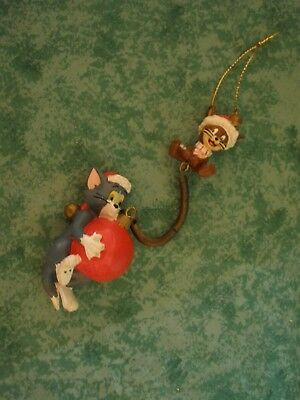"Htf~Warner Bros. Tom & Jerry Spring Ornament~Cartoon Network~6-1/2""~Iob"