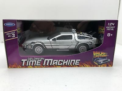 Welly Diecast Metal 1:24 Back to the Future Delorean Time Machine