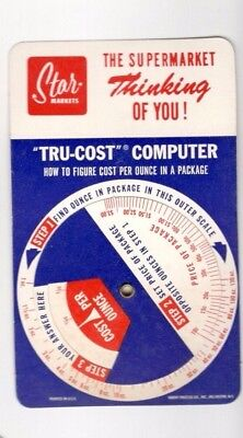 Advertising Calculator Tru Cost Computer  Cost Per Ounce  Star Markets Rochester
