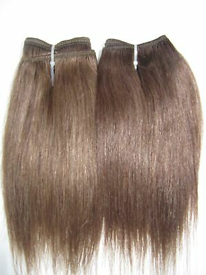 "Human Hair Extensions Weft/Track 30"" Wide #6 Warm Brown or #8 Chestnut Brown"