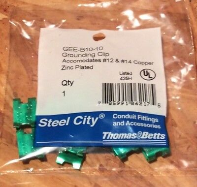 Thomas & Betts Steel City #12 & #14 grounding clips Qty 10