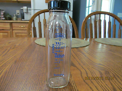 Vintage Davol Anti Colic Glass Baby Bottle 8oz