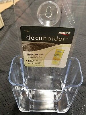 Deflect-o 77501 DocuHolder for Countertop or Wall Mount Use - Clear, Clear