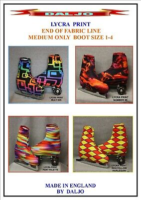 Ice Skating / Roller Skating  Lycra Print Boot Covers Medium Only Fabric End No2